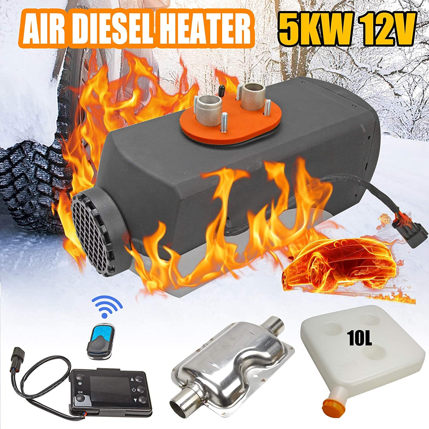 Superfastracing 2KW 12V LCD Air diesel Heater for Motor-home Truck Bus Car