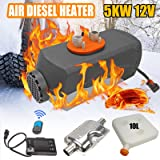 SUPERFASTRACING 5KW 12V Remote Control LCD 10L Tank Air Diesel Fuel Heater for Truck Bus Car Van