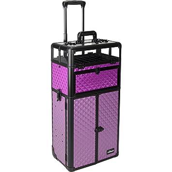 ece20841e9e4 Sunrise Racheta 2-In-1 Rolling Makeup Case Professional Nail Travel  Organizer Box
