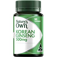 Nature's Own Korean Ginseng 500mg - 50 Capsules