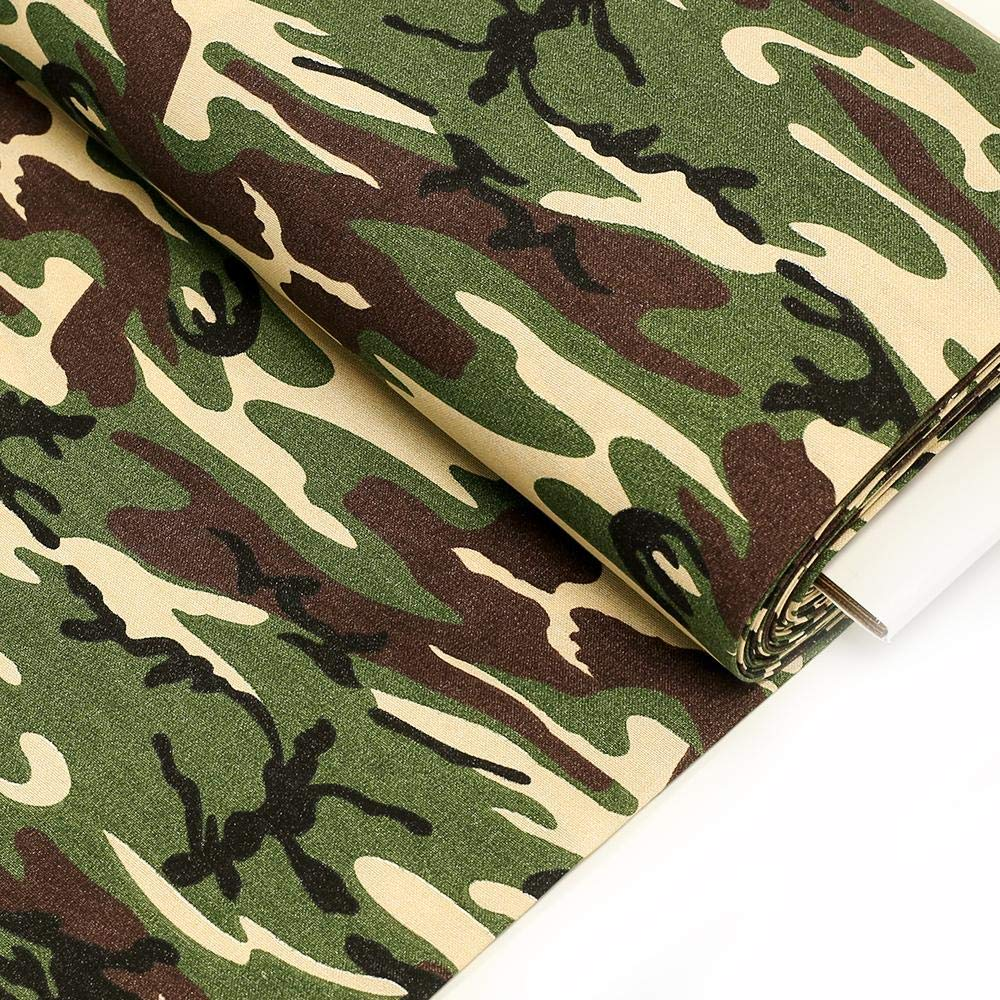 Amazon.com: Woodland, Camouflage Fabric; 50% Polyester 50% Cotton - 60
