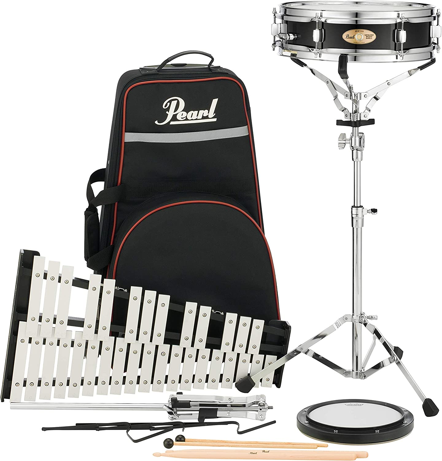 PL910C w//PLBC9 Nylon Carrying Case w//Wheels Pearl Percussion Learning Center