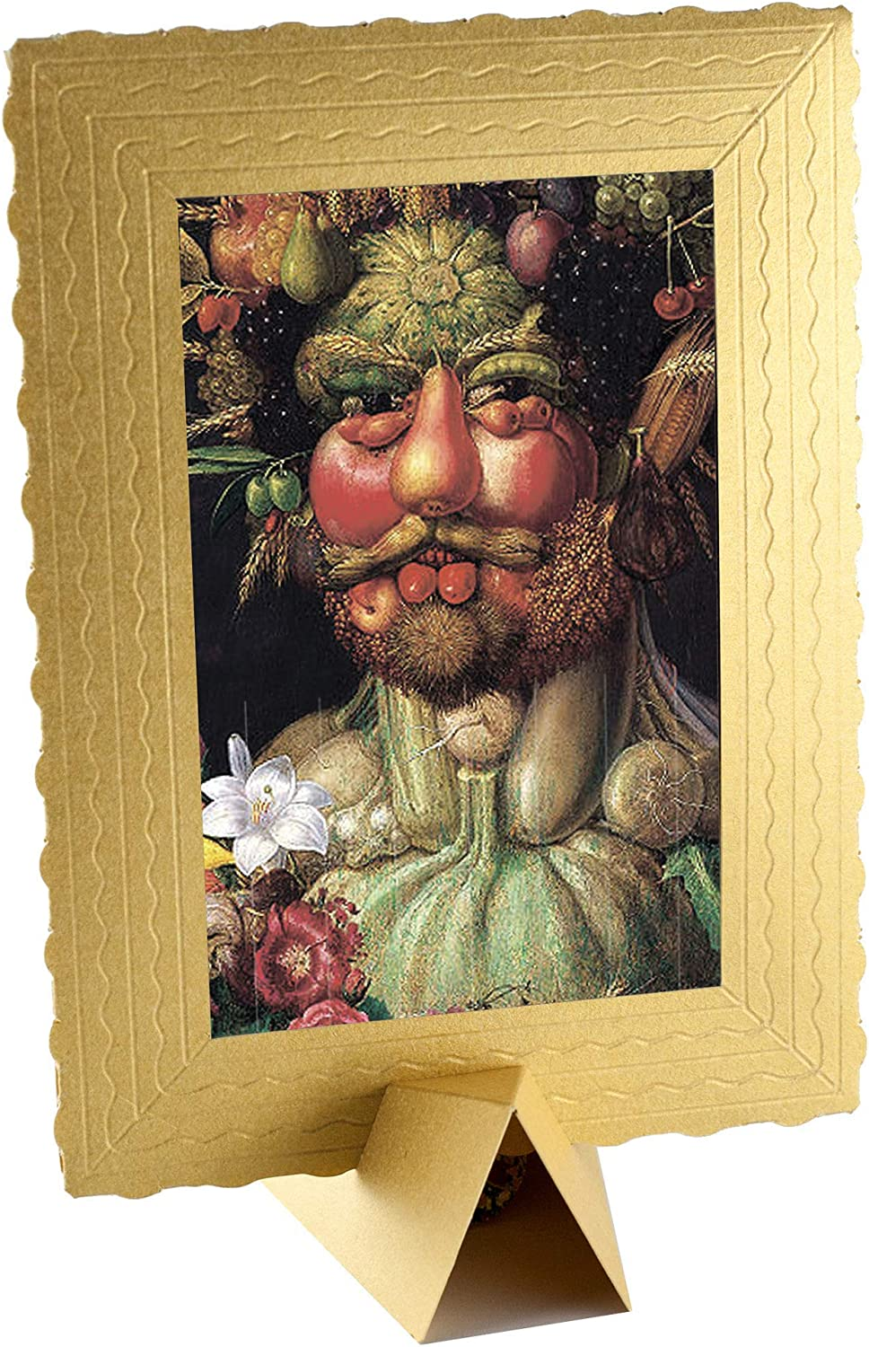 Greeting Card Drawing Art Wishes - Birthday card Presents Gift - 4x6 Vintage card - 3-d Art cards BANKSY Framed – greeting card with Holder (Ventumnus)