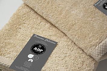 ADP Home - Pack Toallas 550 Grms 4 Piezas (Toalla Lavabo/Mano) 100% Algodón Peinado Color - Crema Talla - 50 x 100 cm: Amazon.es: Hogar