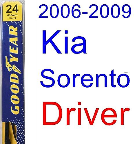2006 – 2009 Kia Sorento hoja de limpiaparabrisas de repuesto Set/Kit (Goodyear limpiaparabrisas