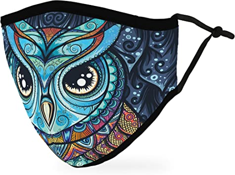 Weddingstar Mask Reusable Owl Mosaic