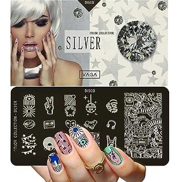 Vaga Disco Placa Para Decoración De Uñas Con 16 Diseños
