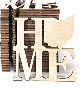 """Gocutouts 3"""" Wooden Home Ohio Sign Package of 25 (3"""" Package of 25)"""