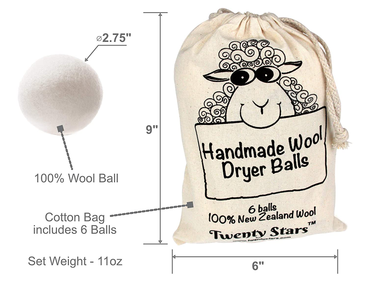 Image 6 of Wool Dryer Balls, Pack of 6