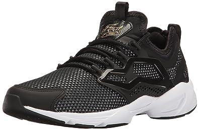 6db5b5ce834d62 Reebok Women s Fury Adapt Graceful TMI Fashion Sneaker Black Gold  Metallic White 5 M
