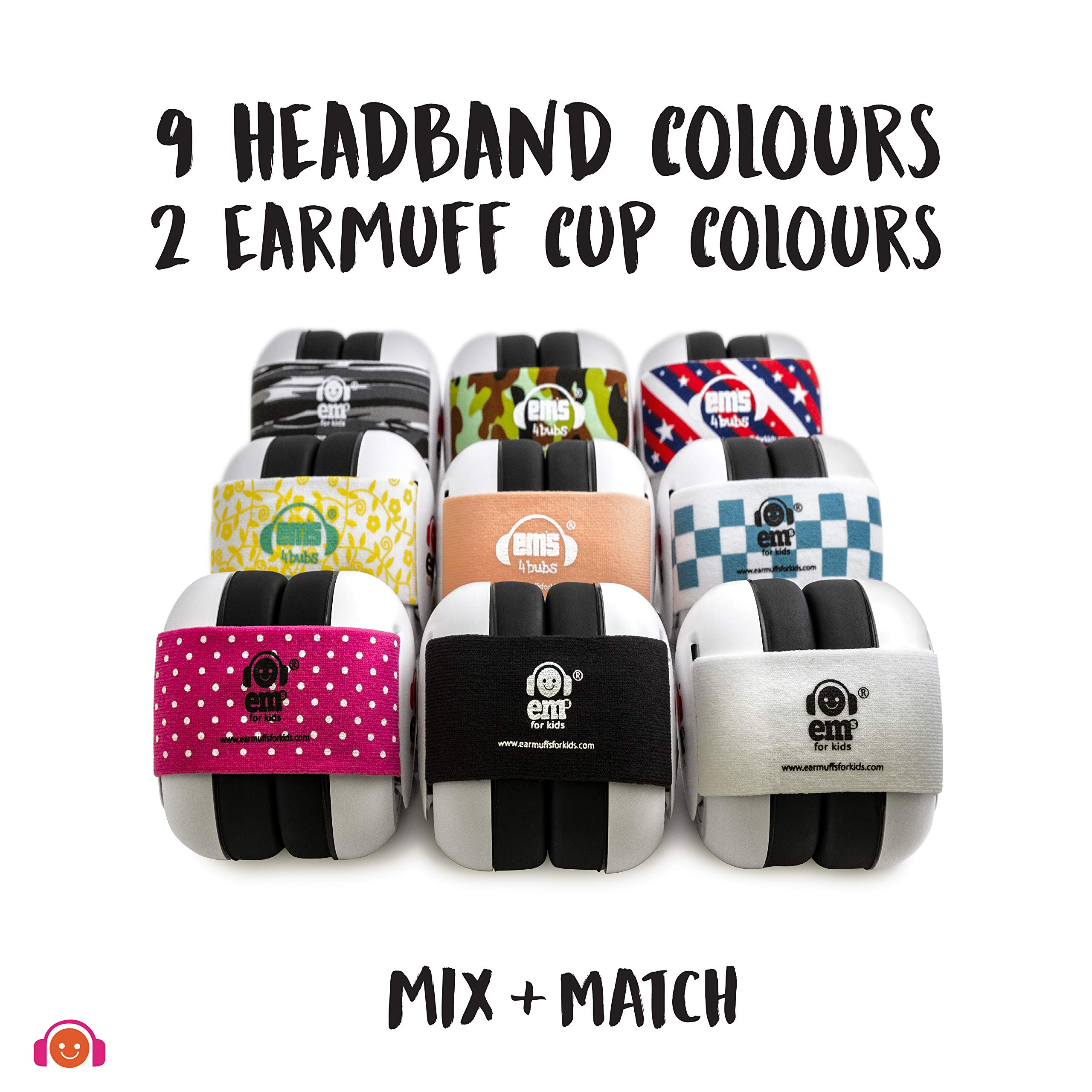 EMS for Kids Baby Earmuffs - White with Stars n Stripes. The Original Baby Earmuffs, Now Made in The USA. Great for Concerts, Music Festivals, Planes, NASCAR, Motor Racing, Power Tools and More! by Ems for Kids (Image #6)