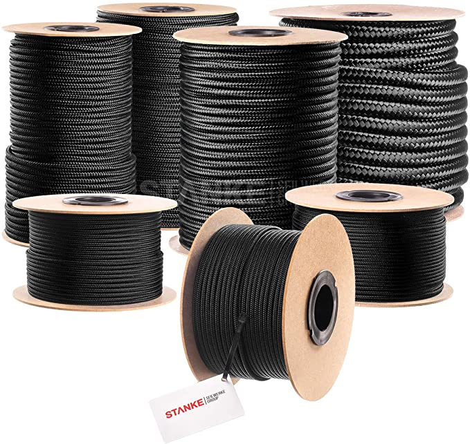 PP Multifil Tauwerk Seil 12mm 10m Blau Gedreht Festmacher Polypropylen Tau