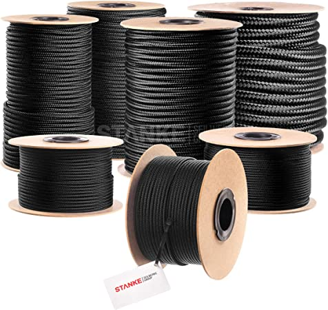 Schnur Leine Flechtleine Seil Nr.42 PP Seile Ankerleine 6 mm,30 m Weiß