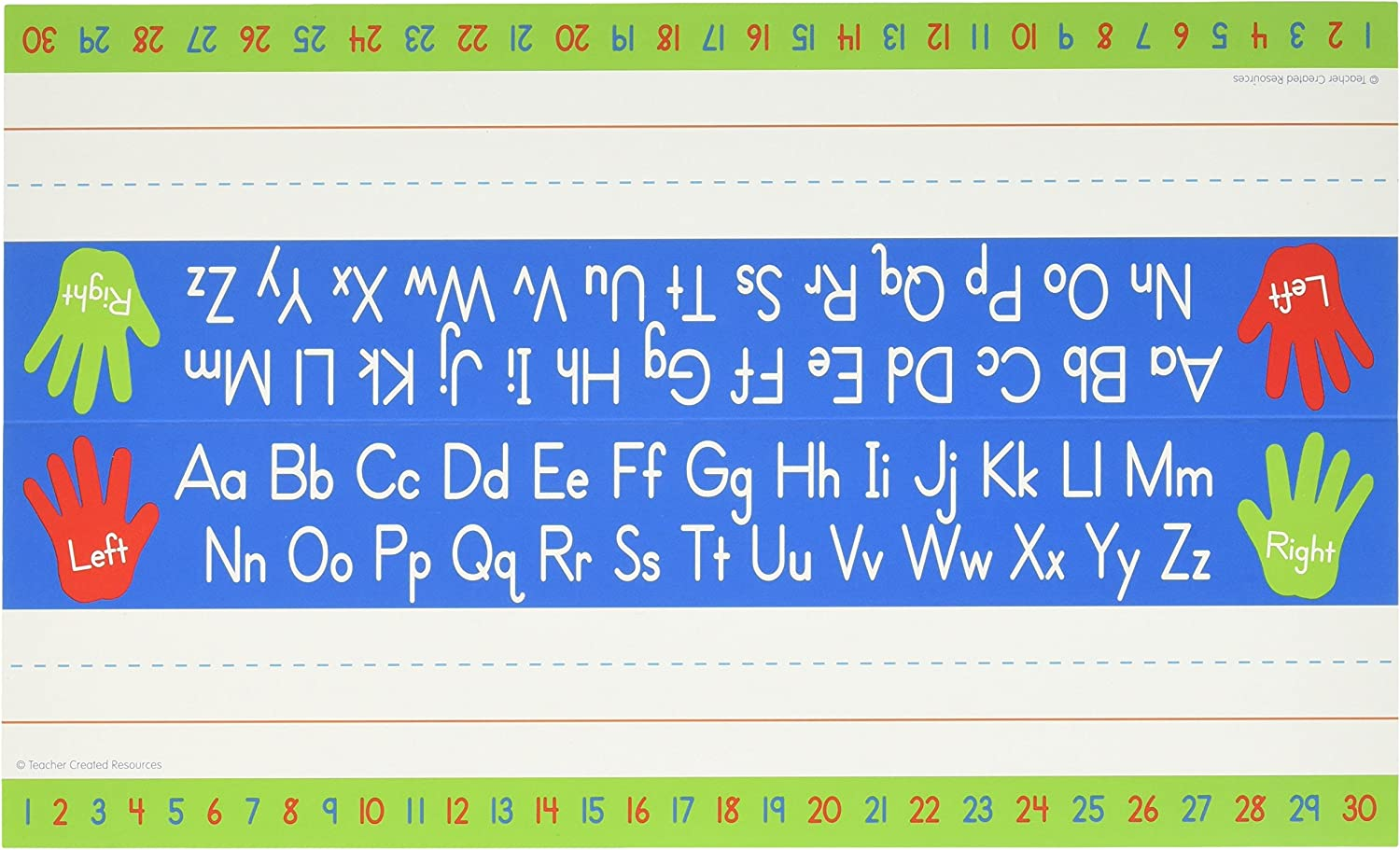 Teacher Created Resources 5723 Left Right Alphabet Tented Name Plate
