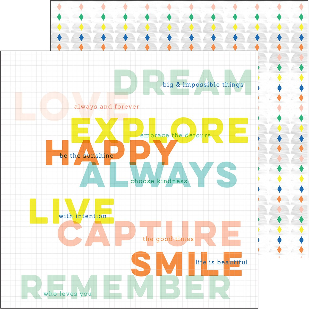 Dream On Double-Sided Cardstock 12''X12''-Aspire - Case Pack of 25 by Pinkfresh Studio