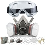 RSM Reusable Face Cover Set for Painting, Dust, Machine Polishing, Vapors with Filter Cotton, Glasses and Gloves for DIY and