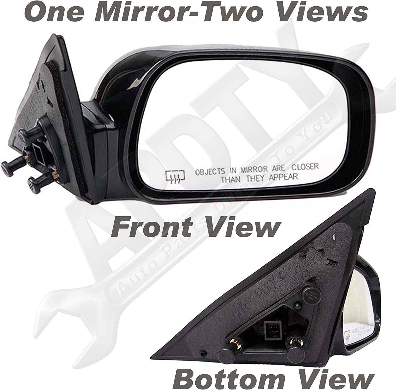 NEW RIGHT DOOR MIRROR FITS TOYOTA CAMRY 2002-2006 USA//JAPAN BUILT POWER NON-HEAT