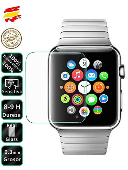 Protector de Pantalla Cristal Templado Premium para Reloj Apple Watch 38mm - Movilrey