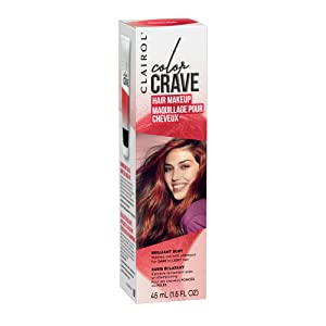 Clairol Color Crave Temporary Hair Color Makeup, Brilliant Ruby, 1 Count