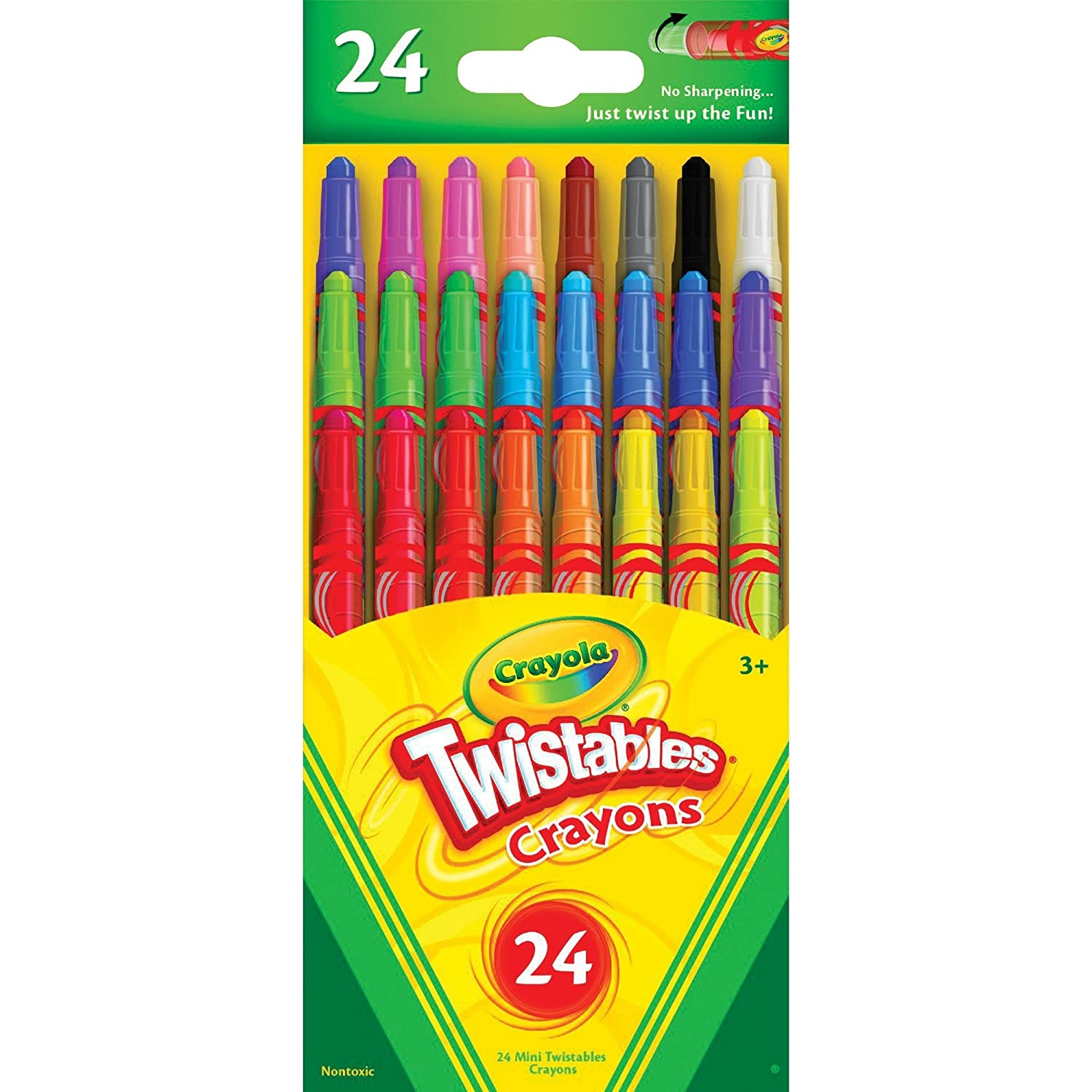24 Count Crayola Crayons Twistable Mini Crayons 24 Count Includes 5 Color Flag Set
