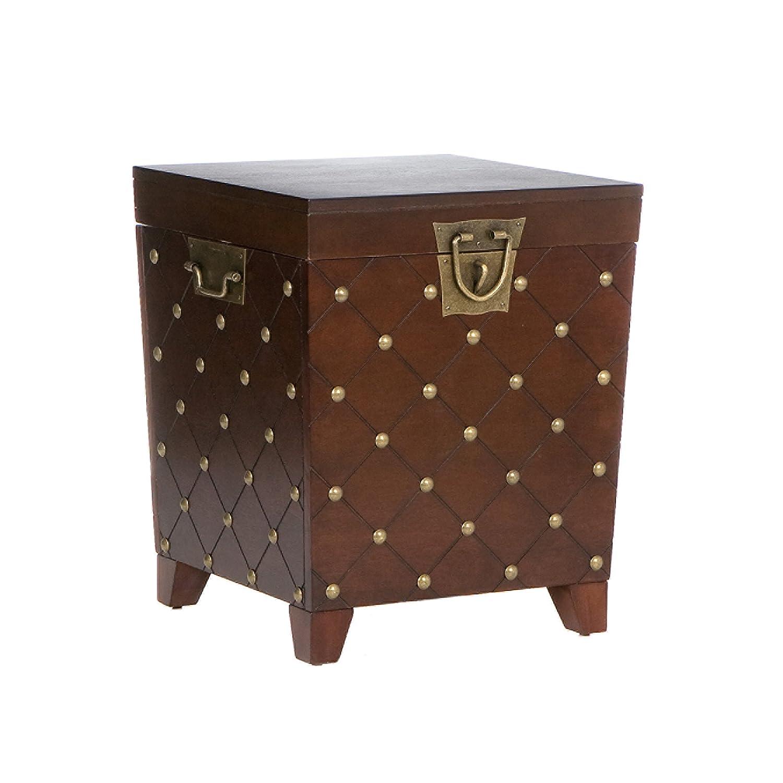 Beautiful Amazon.com: Southern Enterprises Nailhead End Table Storage Trunk, Espresso  Finish: Kitchen U0026 Dining
