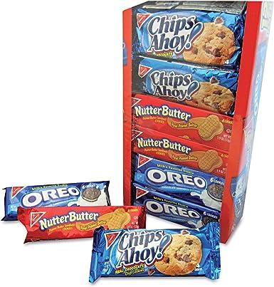 Variety Pack Cookies, Assorted, 1 3/4 oz Packs, 12 Packs/Box: Amazon.es: Alimentación y bebidas