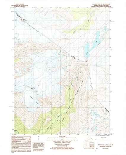 Amazon.com: Historic Map | Skagway, Alaska (AK) 1992 | USGS ...