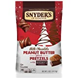 Snyder's of Hanover Milk Chocolate Peanut Butter Holiday Pretzels with Hershey's, 5 Ounce