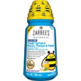 Zarbee's Naturals Children's All in One Cough Syrup + Mucus, Throat & Nasal, Grape, 4 Fl Oz