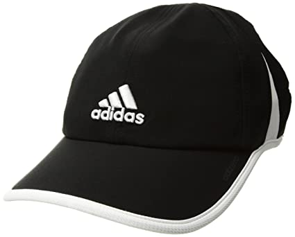 af0601732 adidas Women's Adizero Relaxed Adjustable Performance Cap, Black/White, One  Size