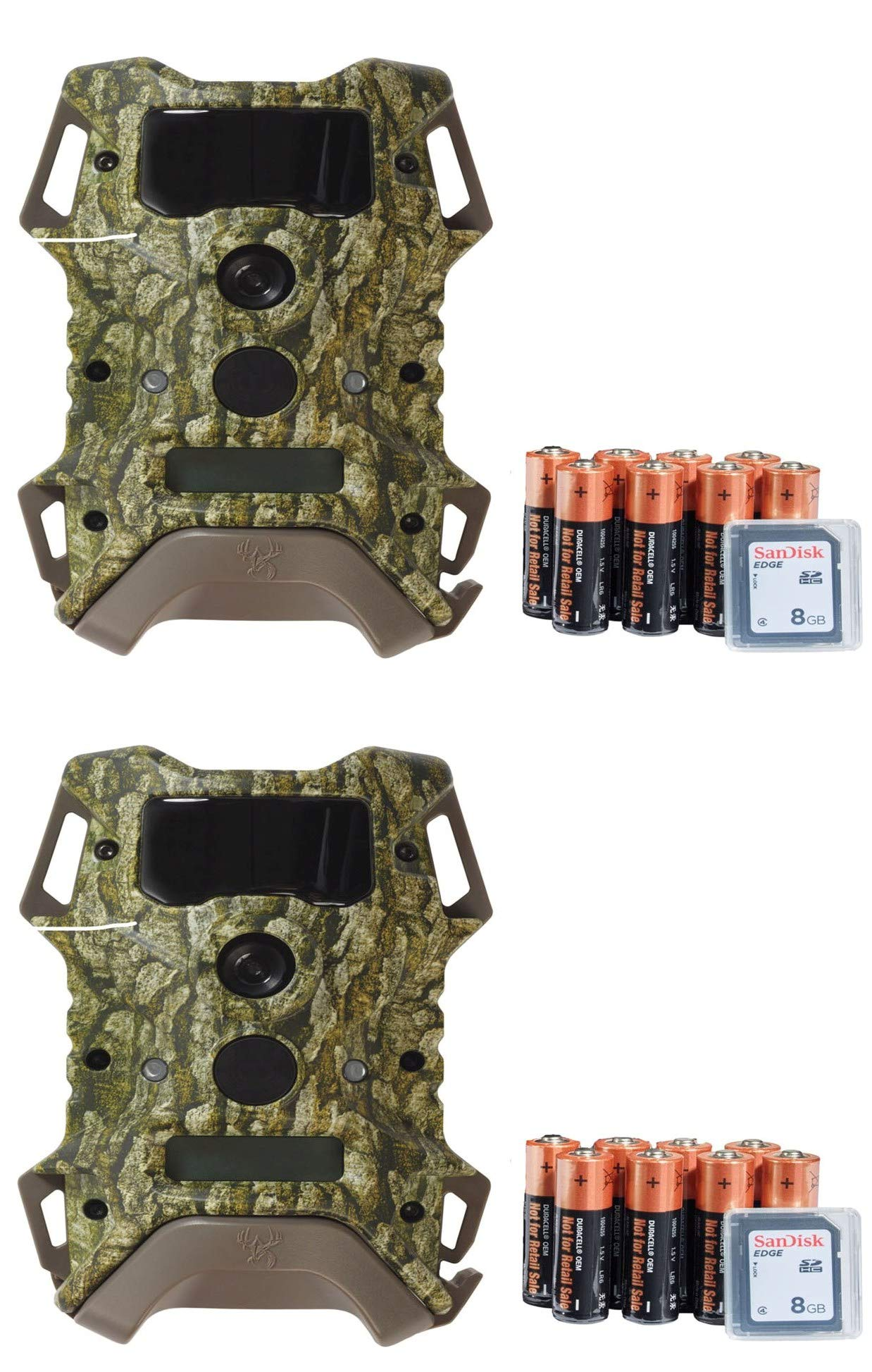 Wildgame Innovations 2 Pack DRT Extreme Lightsout Trail Scouting Cameras w/SD Card & Batteries by Wildgame Innovations