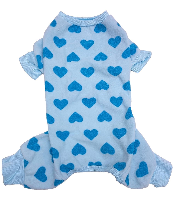 Large Fashion Pet 250336 bluee Outdoor Dog Heart Fleece, Large