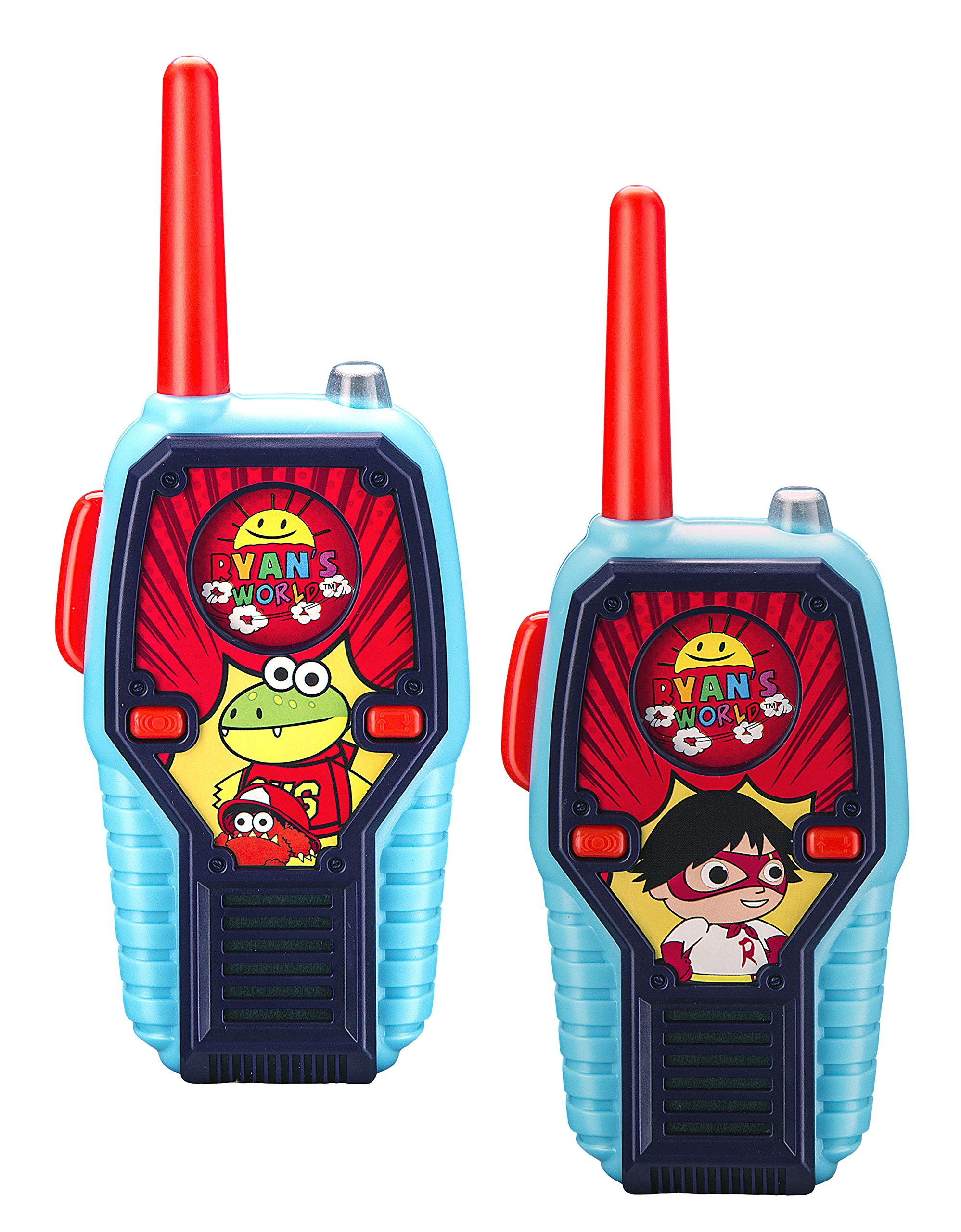 Walkie Talkies for Kids Ryans World Kids Walkie Talkies FRS Range Lights & Sound Kid Friendly Easy to Use for Indoor Outdoor Adventures by eKids (Image #1)