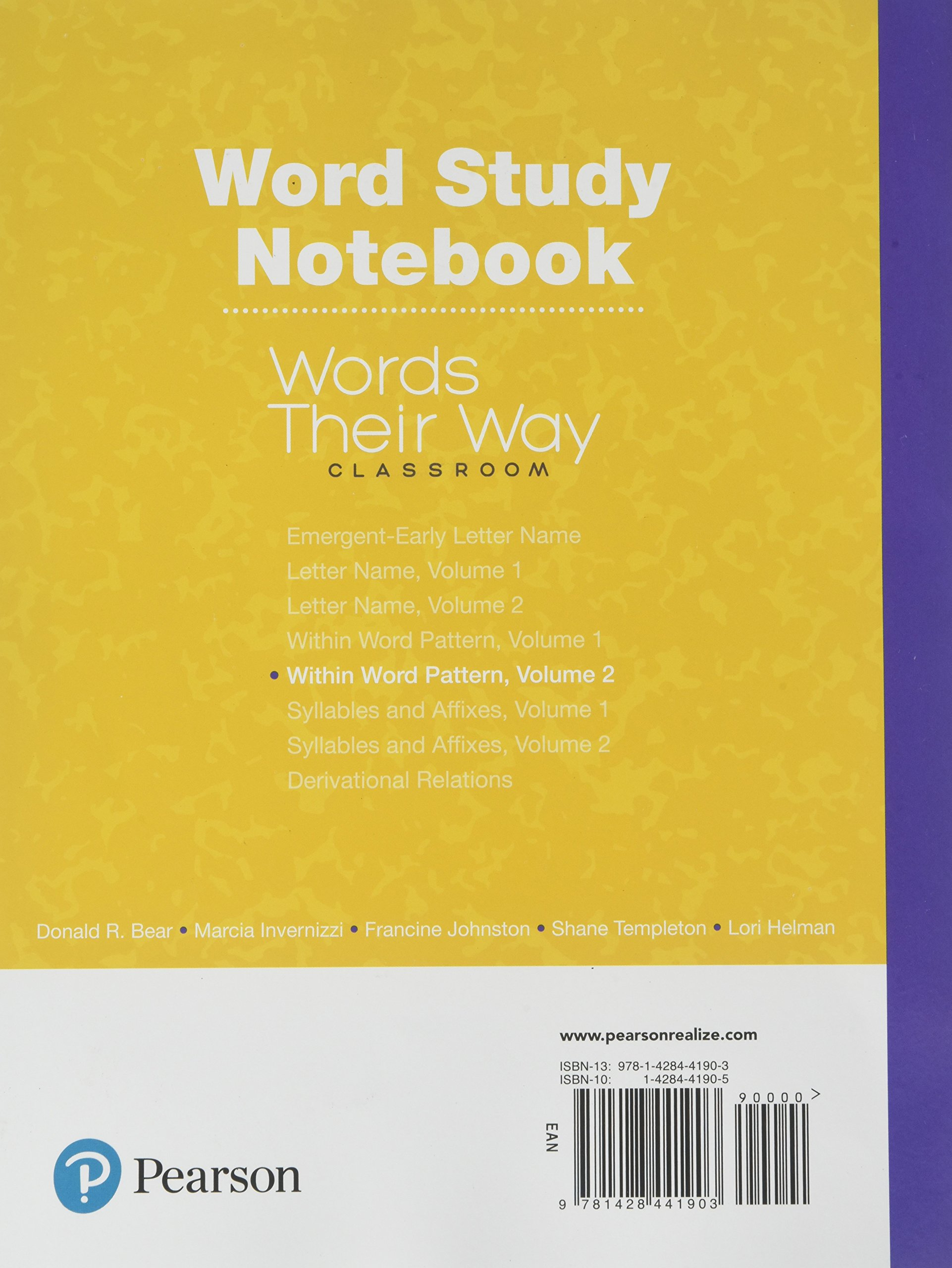 Words Their Way Classroom 2019 Within Word Patterns Volume 2: Amazon