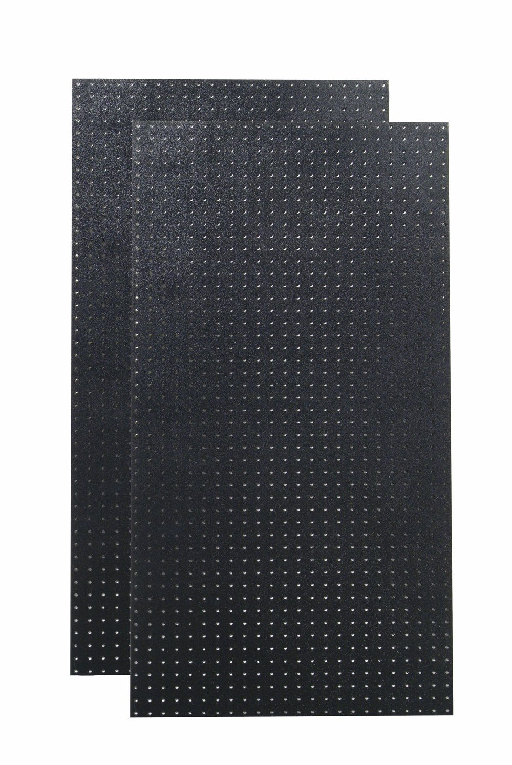 Triton Products DB-2BK Polyethylene Pegboards Matte Front Texture with 9/32'' Hole and 1'' O.C. Hole Spacing, 24 x 48 x 3/16'', Black