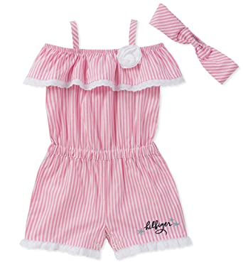 eb74eb55 Amazon.com: Tommy Hilfiger Baby Girls Romper: Clothing