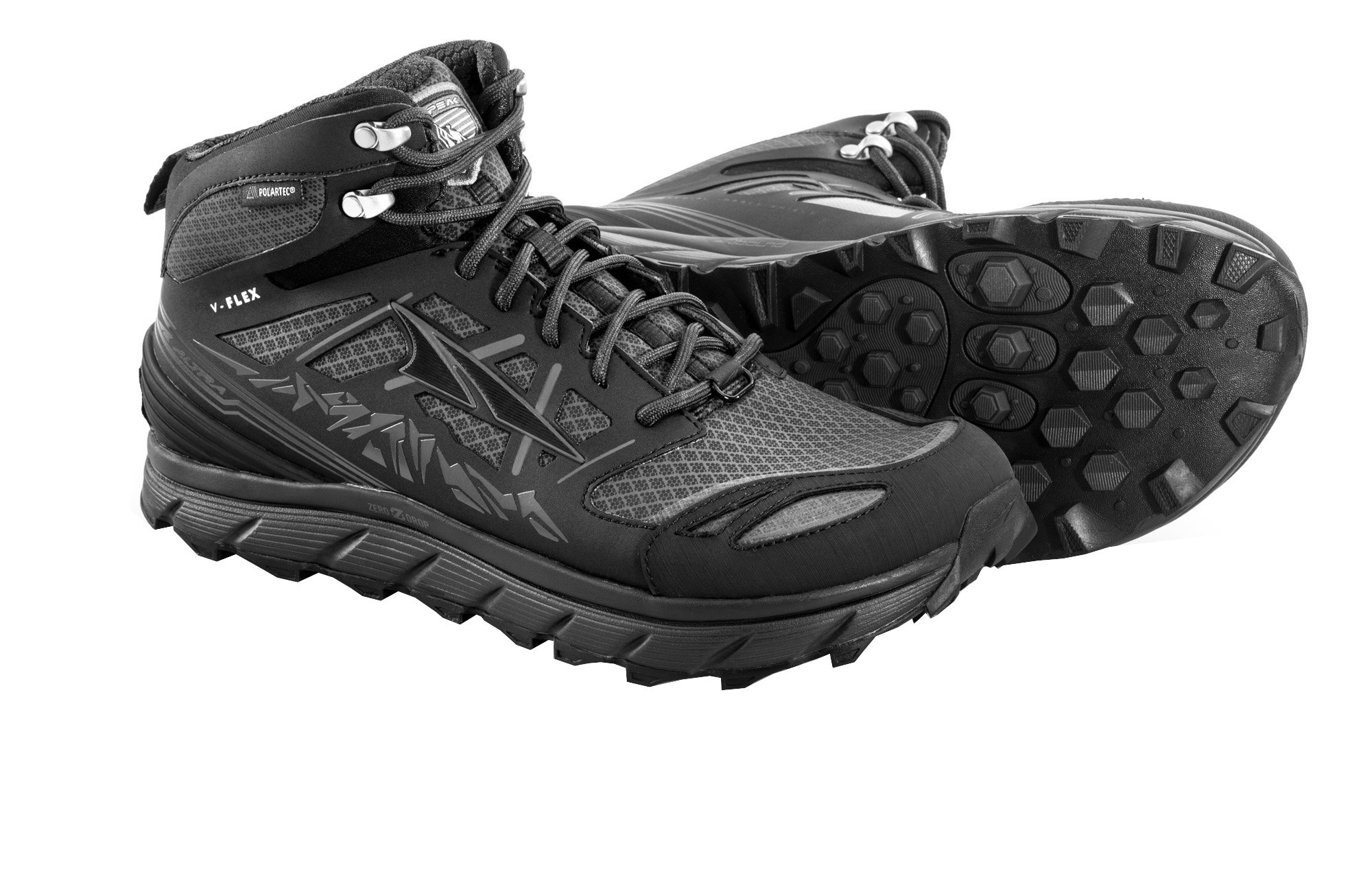 Altra Lone Peak 3 Mid Neo Running Shoes - Men's Black 8.5 by Altra
