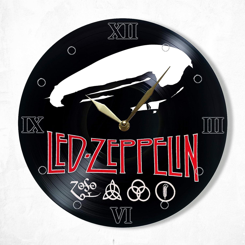 "Led Zeppelin Vinyl Clock 12"", Wall Clock Painted Led Zeppelin, The Best Gift for Music Lovers, Original Gift for Home Decor"