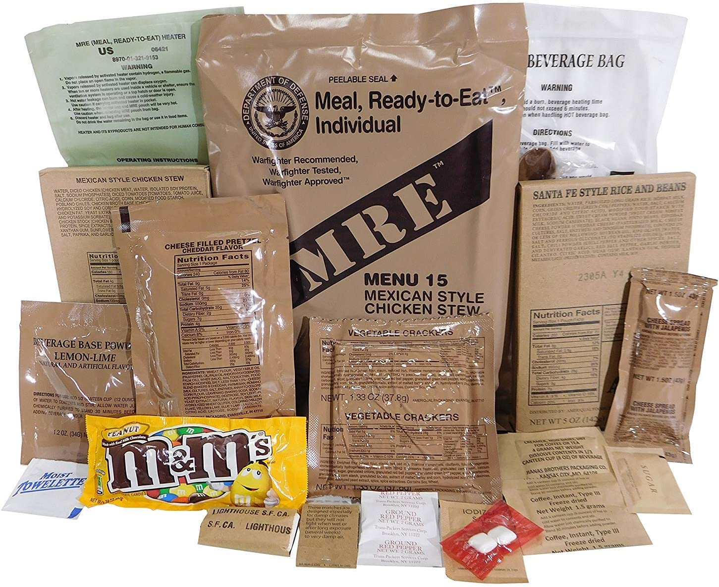 Kit de Supervivencia, ración de Alimentos de Emergencia, Militar, ejército EE.UU, MRE, NATO, 1-24: Amazon.es: Deportes y aire libre