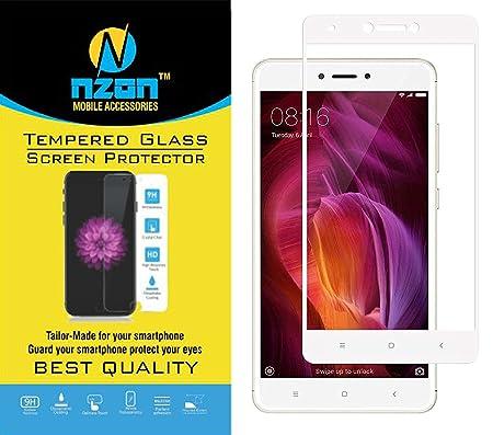 Nzon Tempered Glass For Xiaomi Redmi 4   White Screen guards