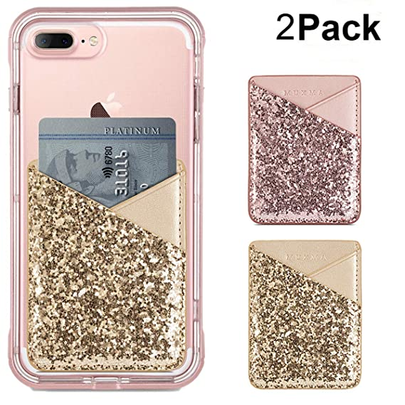 timeless design 69655 4442f Card Holder for Back of Phone, Cell Phone Credit Card Holder Wallet Pocket  Stick on Back iphone 8 7 6 Plus Case