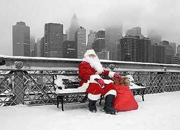 Amazoncom New York Christmas Holiday Cards Santa Resting On
