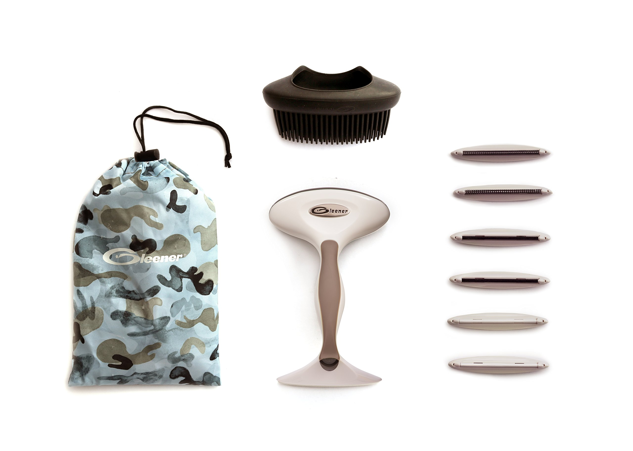 Gleener Ultimate Fuzz Remover Fabric Shaver & Lint Remover with Replacement Edges and Pet Brush accessory | Multi-use clothes shaver, sweater shaver & lint shaver (Taupe)