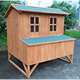 """ChickenCoopOutlet 47"""" Deluxe Solid wood Hen Chicken Cage House Coop Huge w/ nesting box"""