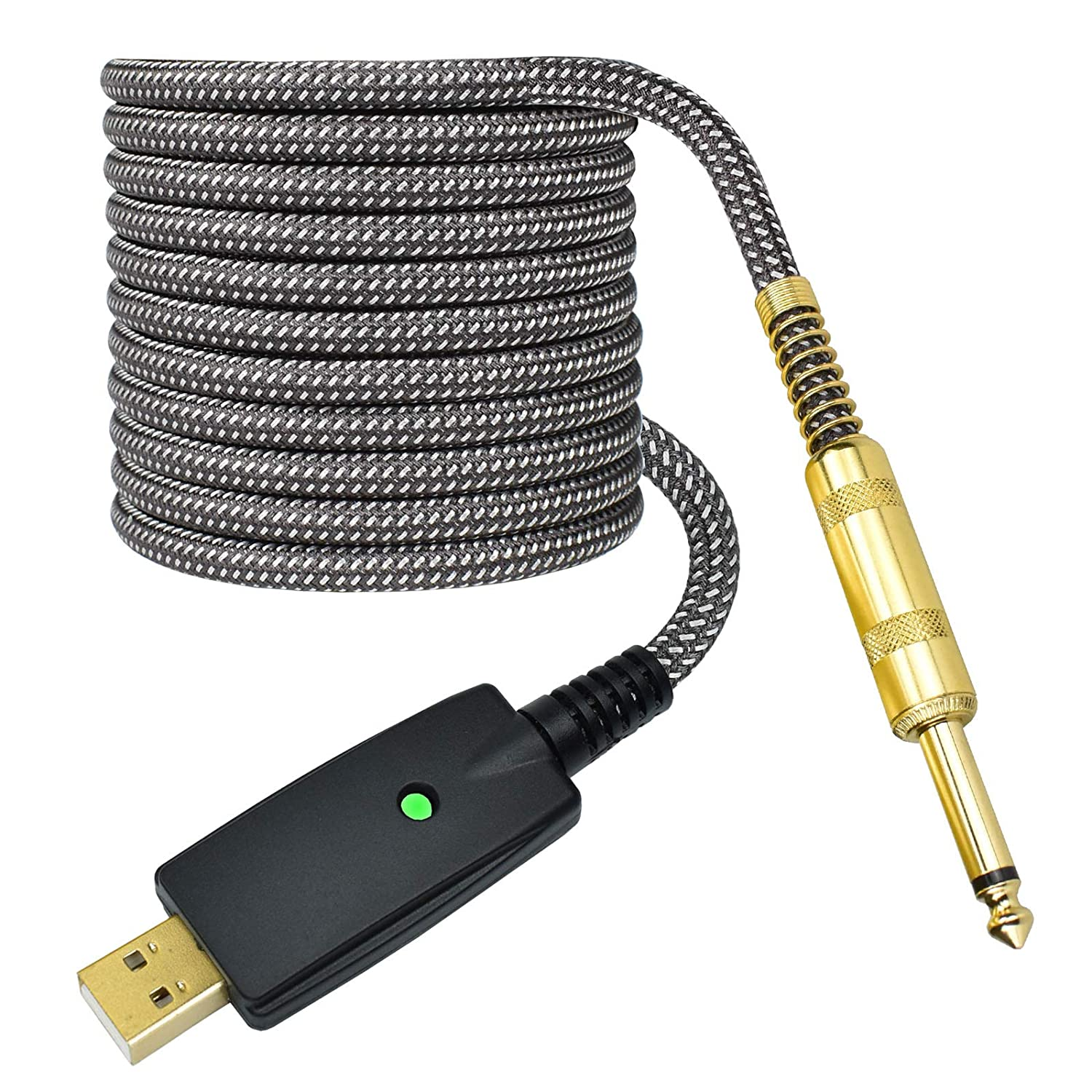 10FT Guitar to USB Cable Adapter, Mugteeve USB to 1/4