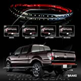 """Optix LED Tailgate Light Bar White Reverse Red Brake Lights Turn Signal - for 1999-2016 Ford F-150 F-250 F-350 F-450 Trucks - 1pc 60"""" Strip"""
