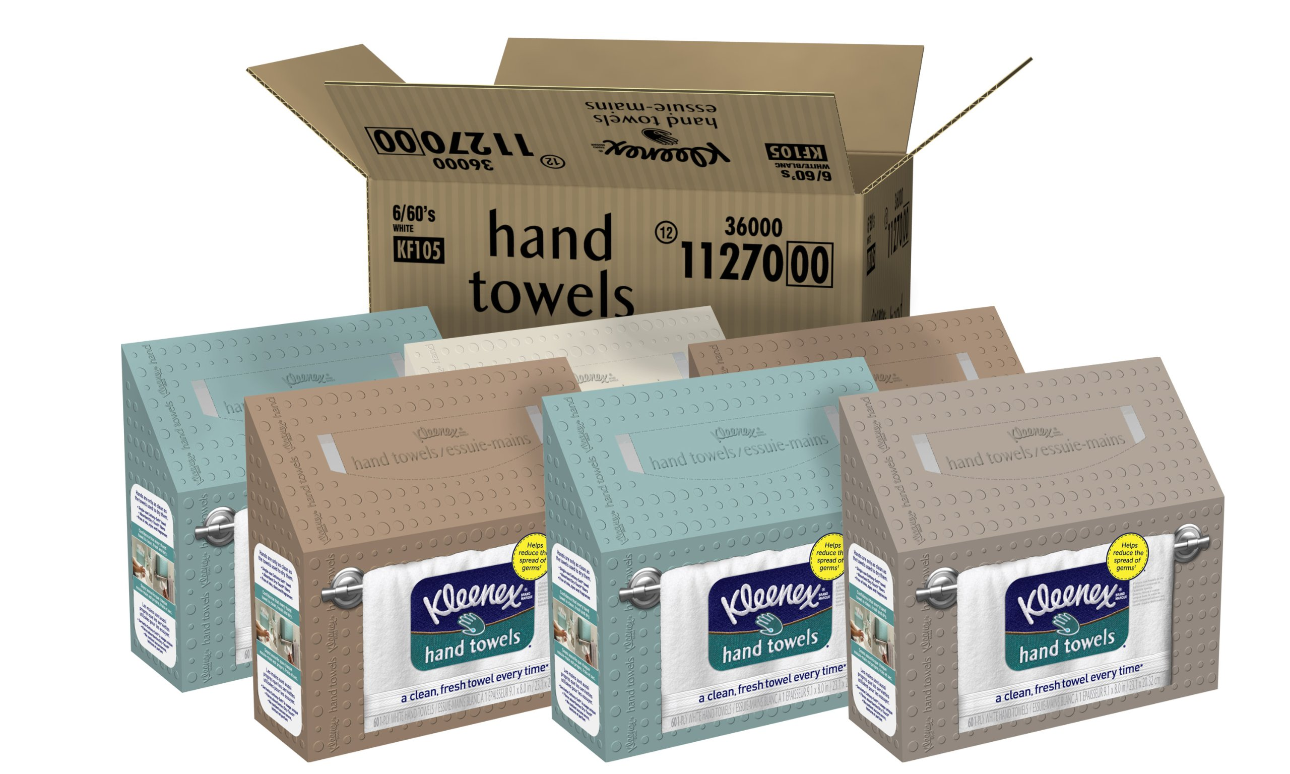 Kleenex White Hand Towels (6 Boxes)