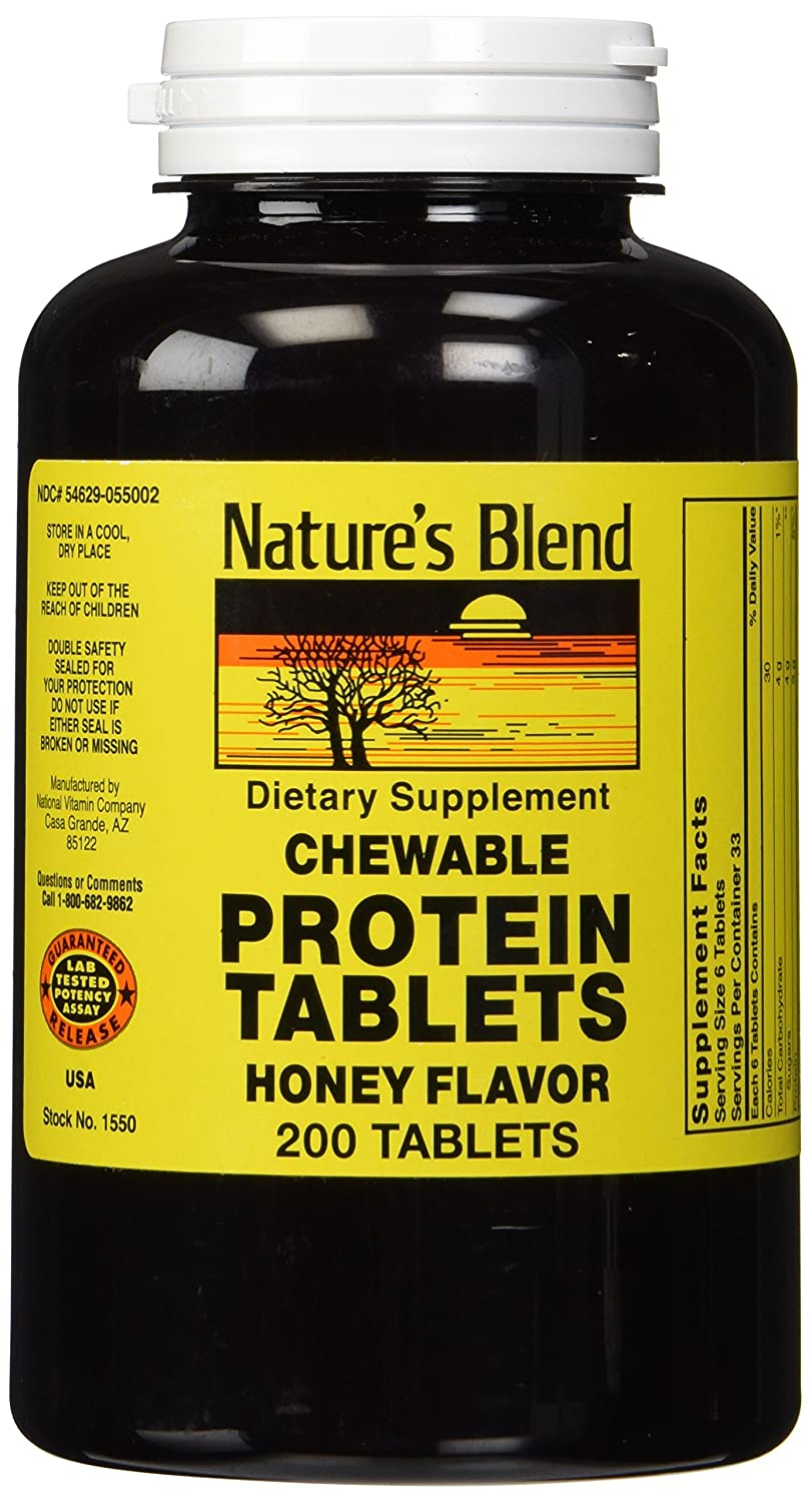 Nature S Blend Protein Tablets Honey Flavor 200 Tablets By Nature S