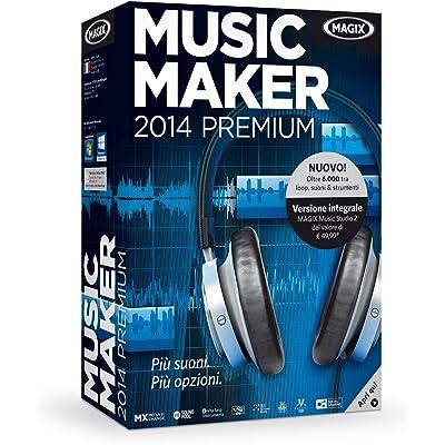 Magix Music Maker 2014 Premium - Software de edición de audio/música (9000 MB, 1024 MB, 2000 MHz, 1024 x 768 DVD, 2048 MB, CD-A,FLAC,MIDI,MP3,OGG,WAV,WMA)