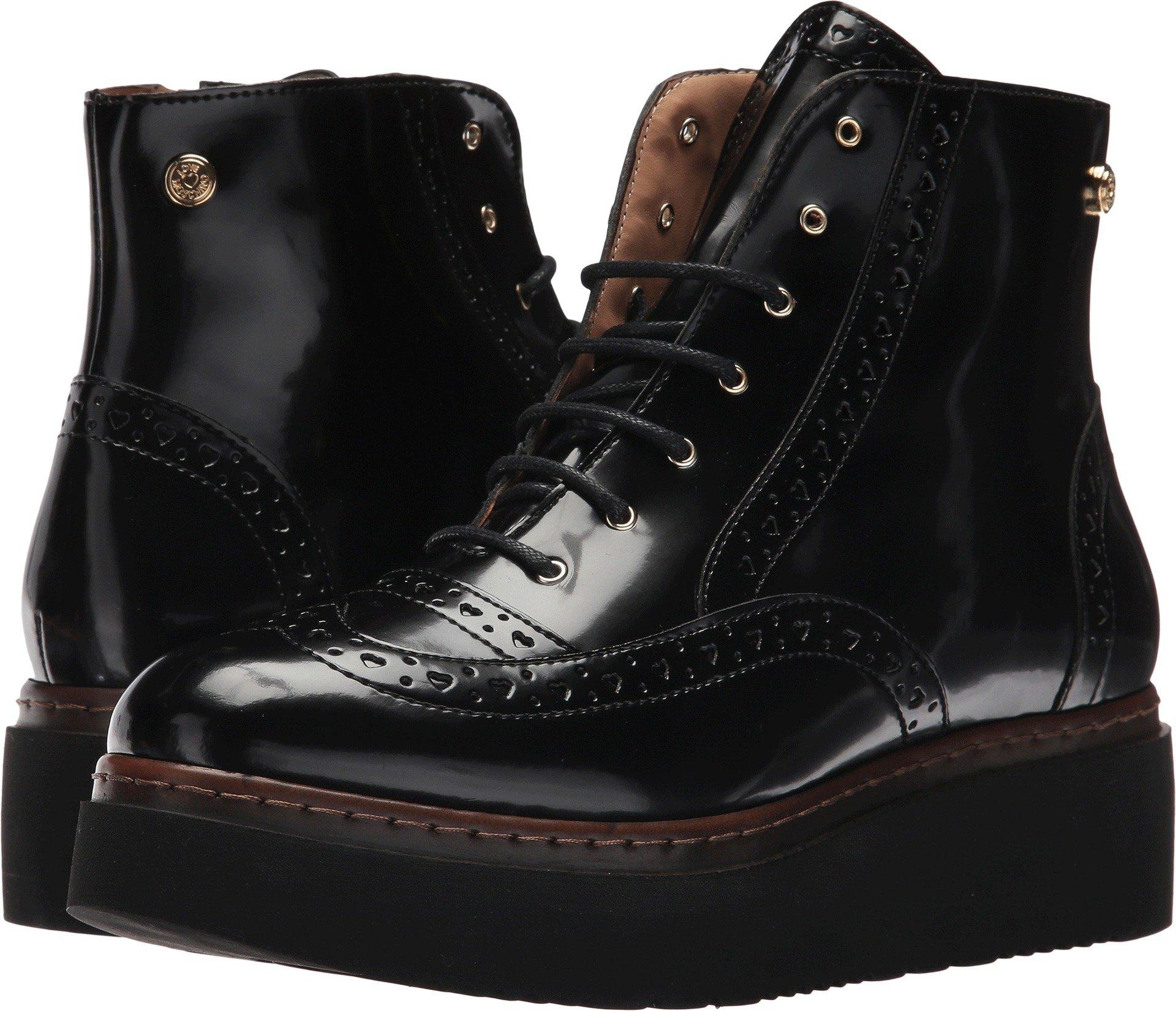 LOVE Moschino Women's Platform Utility Boots Black 35 M EU
